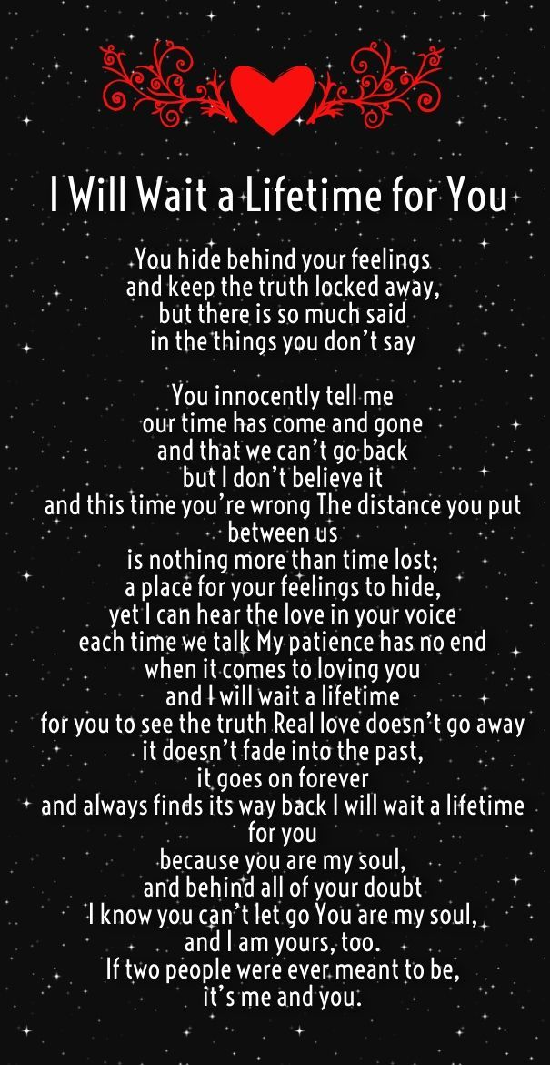 i will wait for you poem for him - Google Search (With ... Google Love Quotes For Him