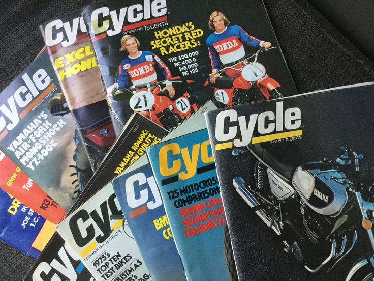 70's  Collection of Cycle Magazines 10 Issues 1975/197618. by Hannahandhersisters on Etsy