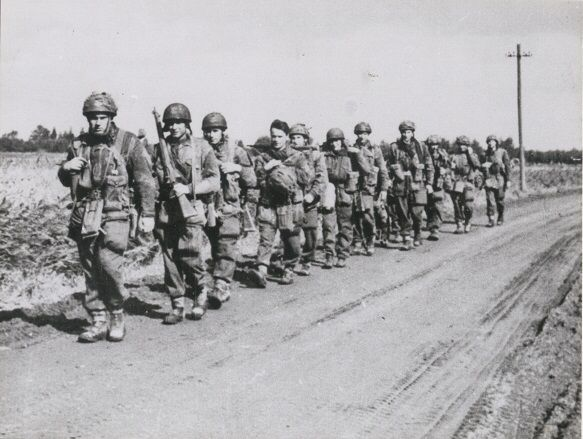 Polish Paratroops in Driel, Holland.