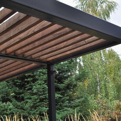 Wood steel trellis design pictures remodel decor and for Steel and wood pergola