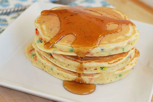 Confetti pancakes.