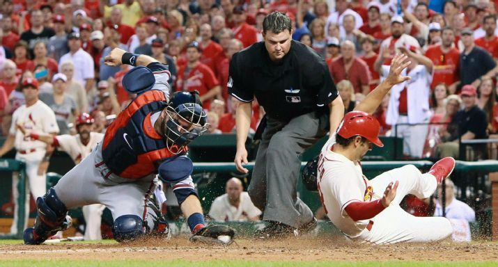 St. Louis Cardinals Team Photos - ESPN St. Louis Cardinals Pete Kozma scores past Atlanta Braves catcher A.J. Pierzynski on a sacrifice fly by pinch hitter Stephen Piscotty in the eighth inning of a baseball game, Saturday, July 25, 2015 in St. Louis. (Chris Lee/St. Louis Post-Dispatch via AP) EDWARDSVILLE INTELLIGENCER OUT; THE ALTON TELEGRAPH OUT; MANDATORY CREDIT
