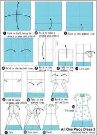 37 ideas origami paper dress tutorials dollar bills