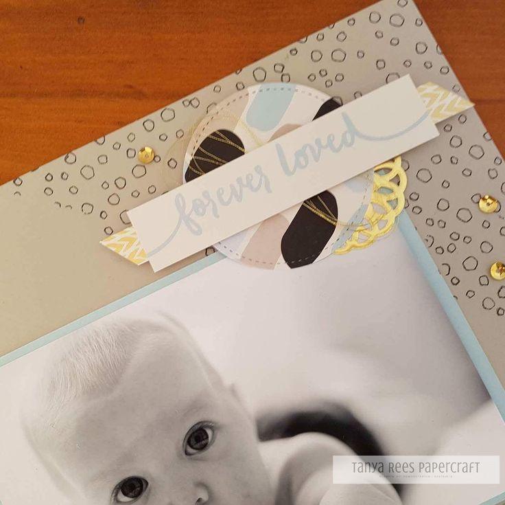 Tanya Rees Papercraft -Stampin' Up!  Bundle of Love Memories & More scrapbook page
