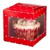 Red Spotty Single Cupcake Gift Boxes