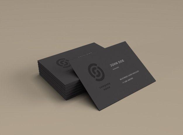 Maquette De Cartes De Visite In 2020 Business Card Mock Up Professional Business Card Design Vector Business Card