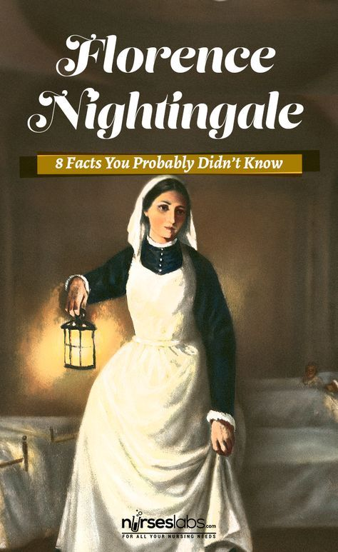 """8 Florence Nightingale Facts You Probably Didn't Know - Nurseslabs We all know Florence Nightingale as the """"Lady with the Lamp"""" and the founder of modern nursing across the world. However, there is much more to learn about this remarkable woman whose influence extended to nursing, health care and social reform, army health services, religion, statistics and more. Here are some interesting facts about Florence Nightingale you may not have known."""