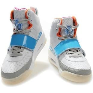 Womens Air Yeezy Shoes White Light Blue Glow In The Dark