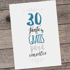 Vai casar e precisa de uma fonte lindona pro convite? Confere o nosso post com 30 sugestões grátis de fontes para convite de casamento!