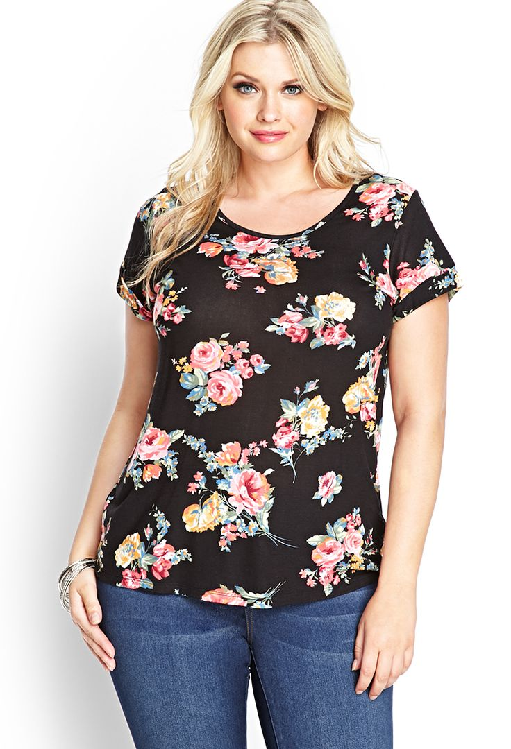Cluster Floral Knit Tee