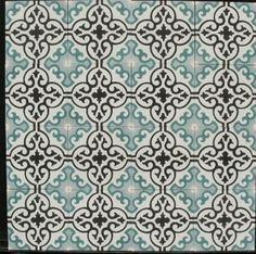 Marrokkaanse tegels onder pergola