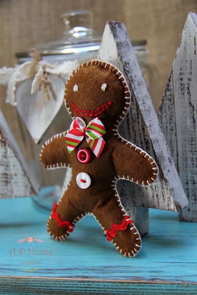 ciastek filcowy hand made, dekoracja świąteczna, Boże Narodzenie