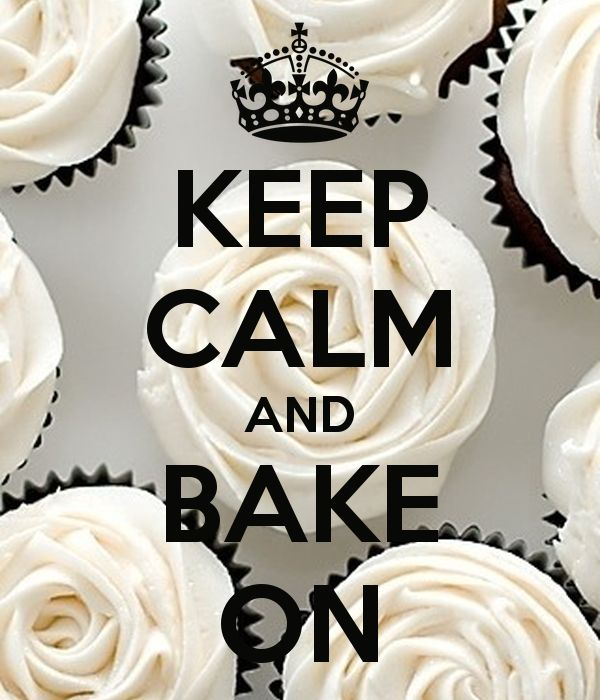 'KEEP CALM AND BAKE ON' Poster