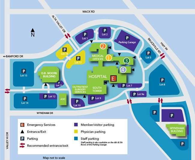 South Sacramento Medical Center - Campus Map - Kaiser Permanente South Sacramento