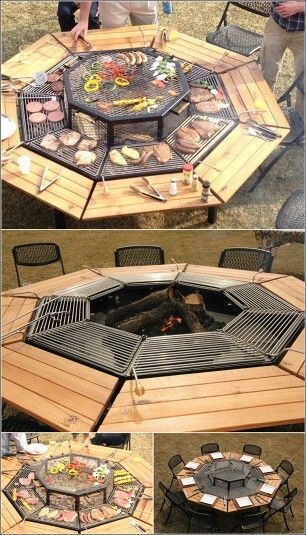 This is such a cool idea. Not sure if guests would want to cook their own food though. May be better for s'mores. Regardless, This is super cool!
