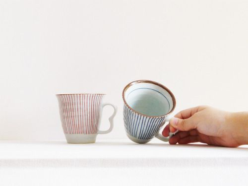 pure-and-honest: Porcelain Cup - Stripe Pattern