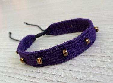 Bracelet macrame rock