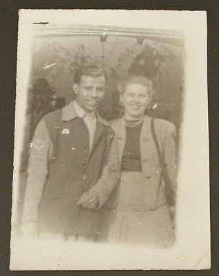1940's Inter Racial Couple Original Vintage Photograph.