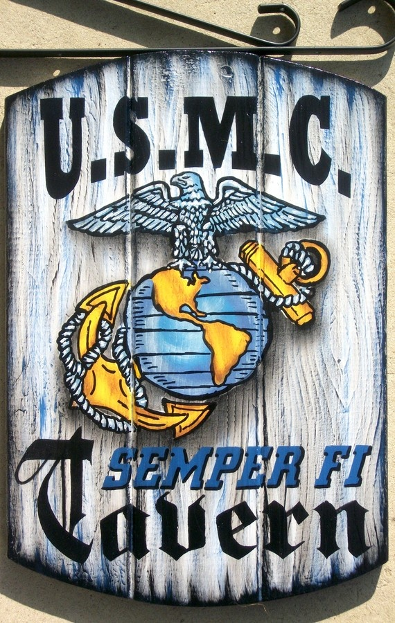 Marine Corps Man Cave Signs : Usmc sign for back porch or garage marine corps