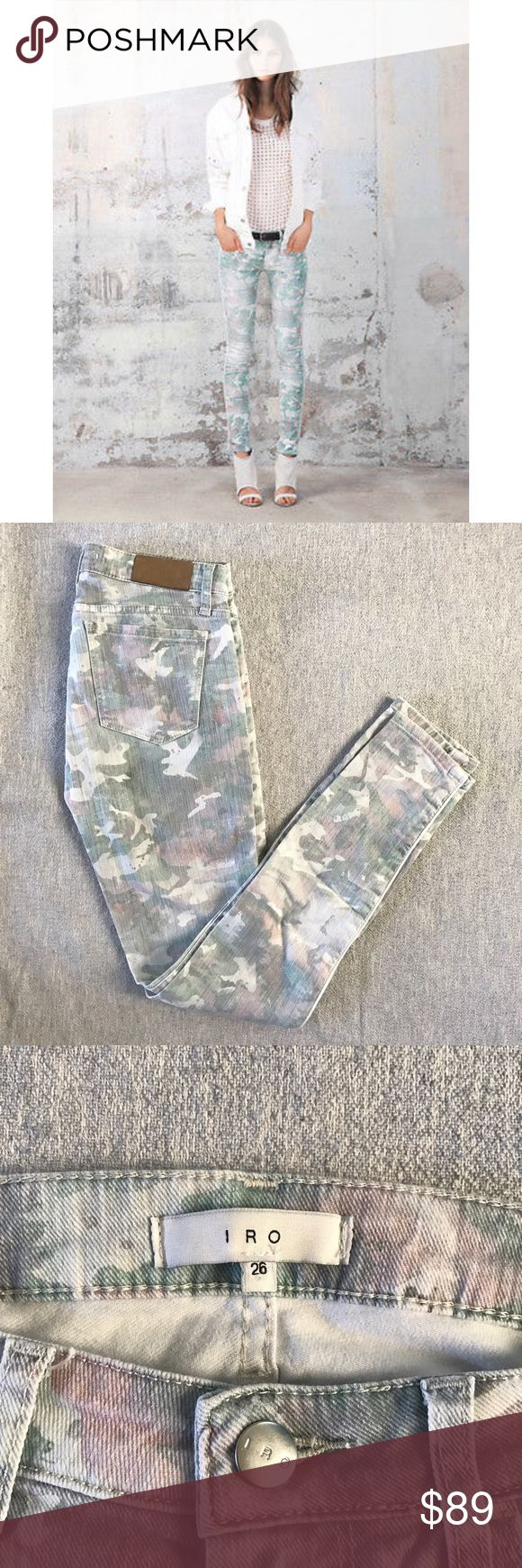 """IRO Camo Skinny Jeans IRO Camo Skinny Jeans """"damia"""". In perfect condition, barely worn! Size 26. IRO Jeans Skinny"""