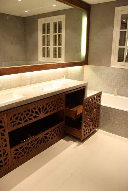 Wood screen vanity | Z DESIGN