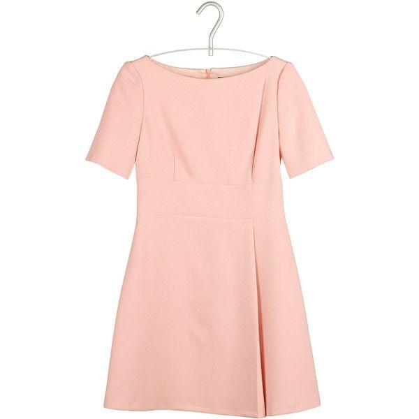 TARA JARMON Robe 60's Rose ($115) ❤ liked on Polyvore featuring dresses, Ð