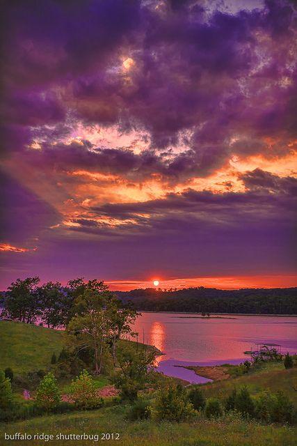Sunset on Norris Lake, TN