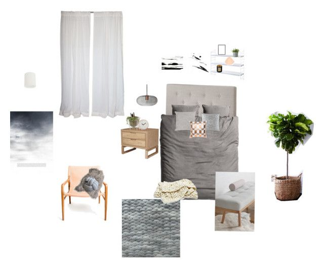 """""""Main Bedroom"""" by wood-leanne on Polyvore featuring interior, interiors, interior design, home, home decor, interior decorating, H&M, Maison de Vacances, Brink & Campman and Waterford"""