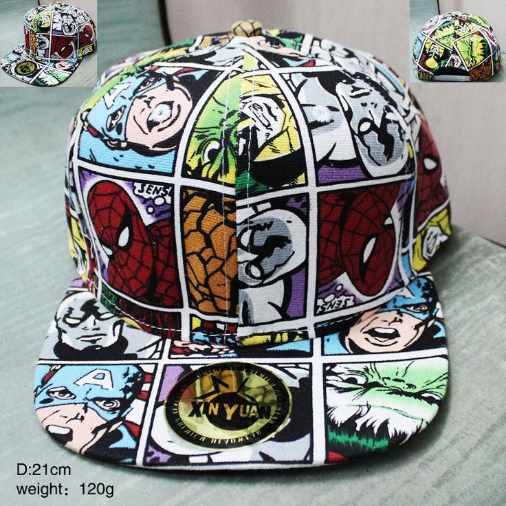 Marvel Superhero Caps Adult Baseball Cap Cool Boy Hip-hop Hats for Men Women KT2920
