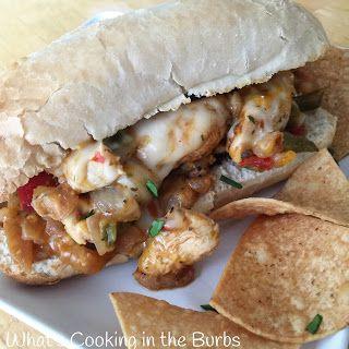 What's Cooking in the Burbs: Chicken Fajita Cheesesteak Sandwiches