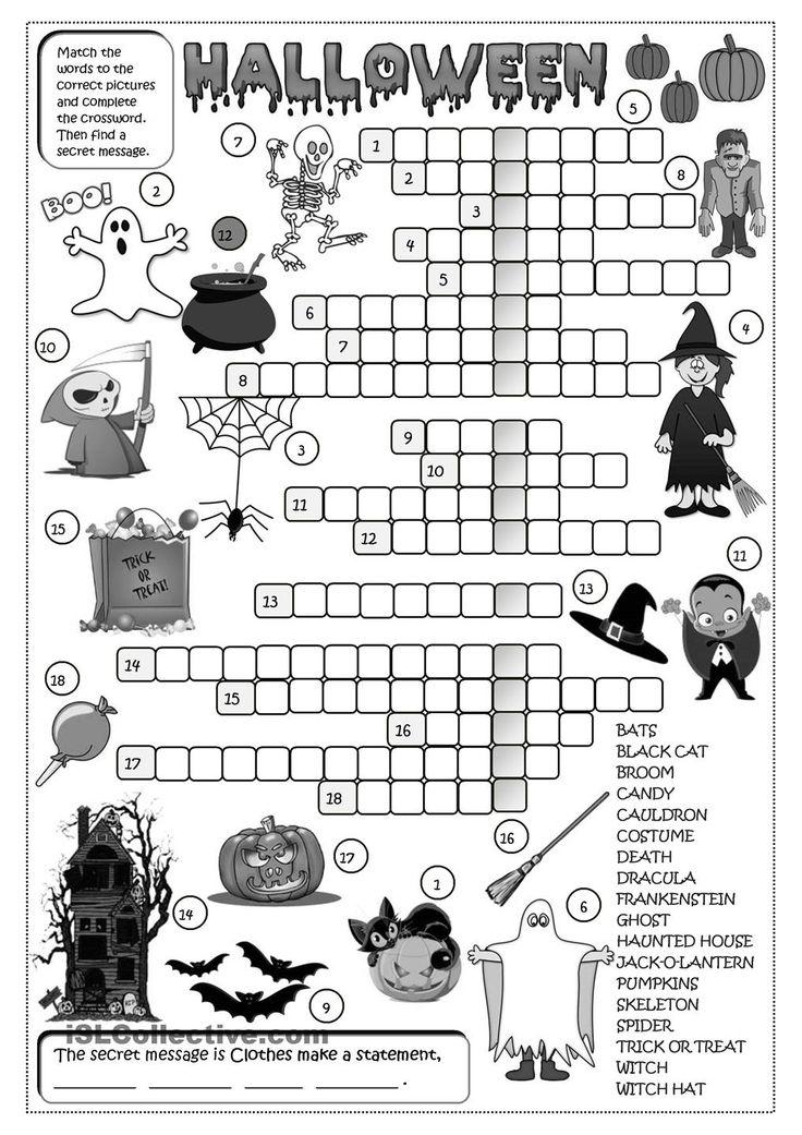 Printable Worksheets halloween esl worksheets : 206 best Halloween worksheets images on Pinterest | English ...
