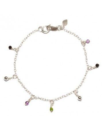 Petite Grand Seven Beaded Drop Bracelet