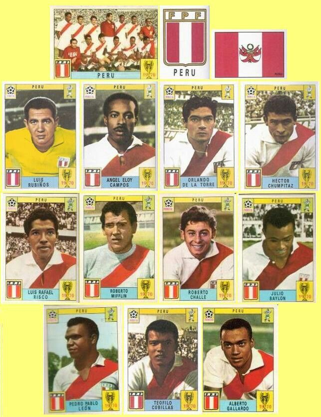 Peru stickers for the 1970 World Cup Finals.