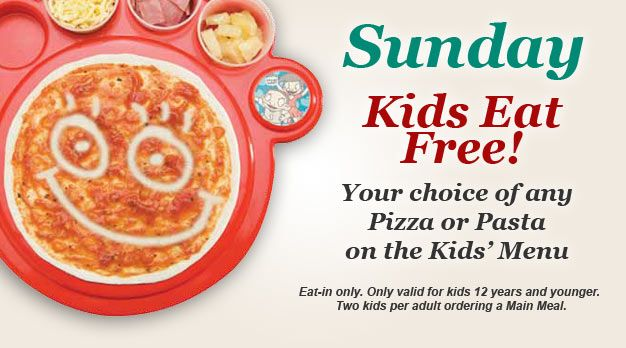 Stuck for chow ideas on Sunday? Kids eat free at Panarottis.