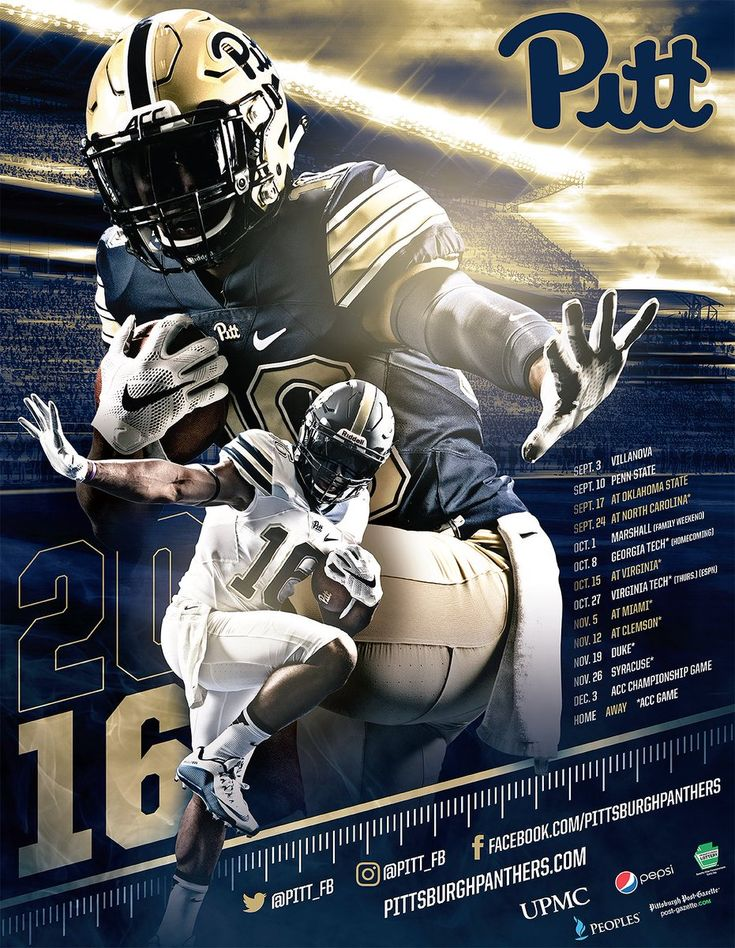 2016 Pitt Football Poster