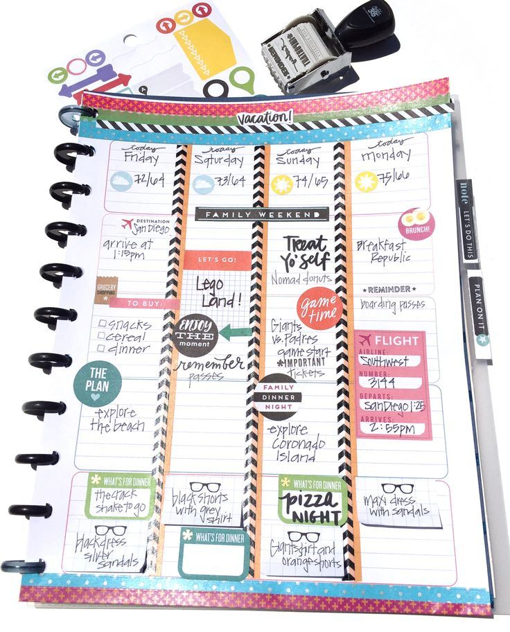 turning The Happy Planner Teacher Planner into a TRAVEL/VACATION planner by