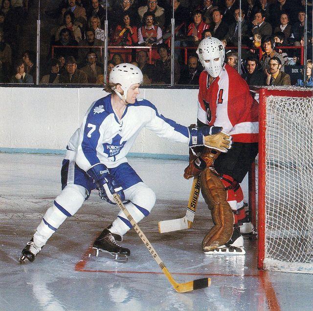 Lanny McDonald (Toronto Maple Leafs) + Bernie Parent (Philadelphia Flyers)