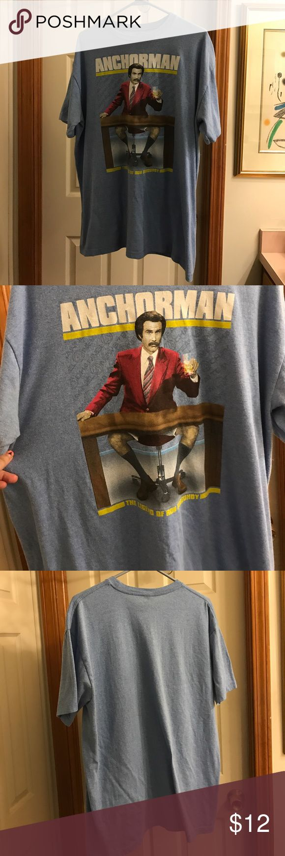 """Anchorman T-Shirt X Large Anchorman short sleeved men's t-shirt. Graphics on the front only. Reads """"The Legend of Ron Burgundy"""". Nice condition. Paramount Shirts Tees - Short Sleeve"""