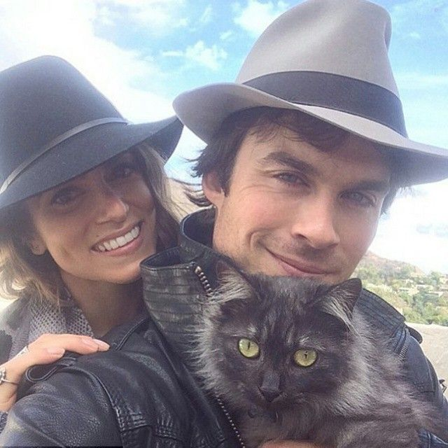 #iansomerhalder #nikkireed #tvd #thevampirediaries #vampire #twilight #pet #cute #couple #fashion #style #celebrity #celebritylook #fashionista #fashionicon #mensfashion #mensfashionpost #ombre #stylish #lookbook #look #ootd #outfit #handsome #shoes #man #awesome #swag #hat... - Celebrity Fashion