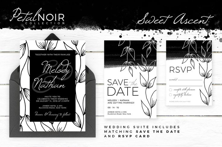 Matching Save The Date And Wedding Invitations: Sweet Ascent By AM Studio On @creativemarket