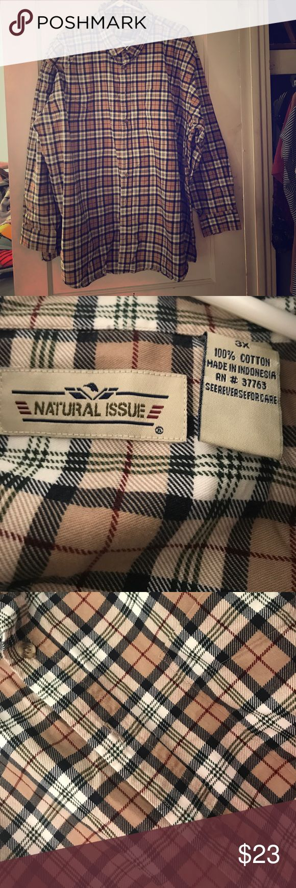 Men's plaid shirt Button up plaid shirt, gently used, sleeves button up as well Shirts Casual Button Down Shirts