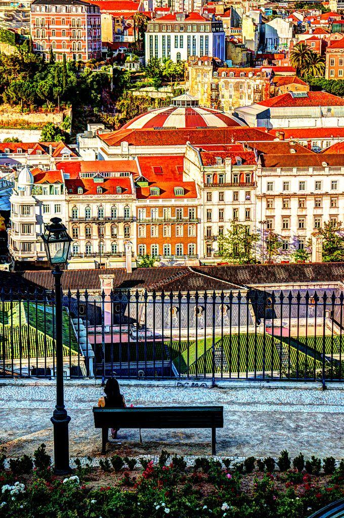 Miradouro de são Pedro de Alcântara, Lisboa, Portugal