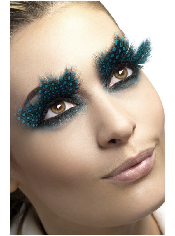 57b50ba669d Feather Eyelashes with Aqua Dots in 2019 | Make me up | Feather ...