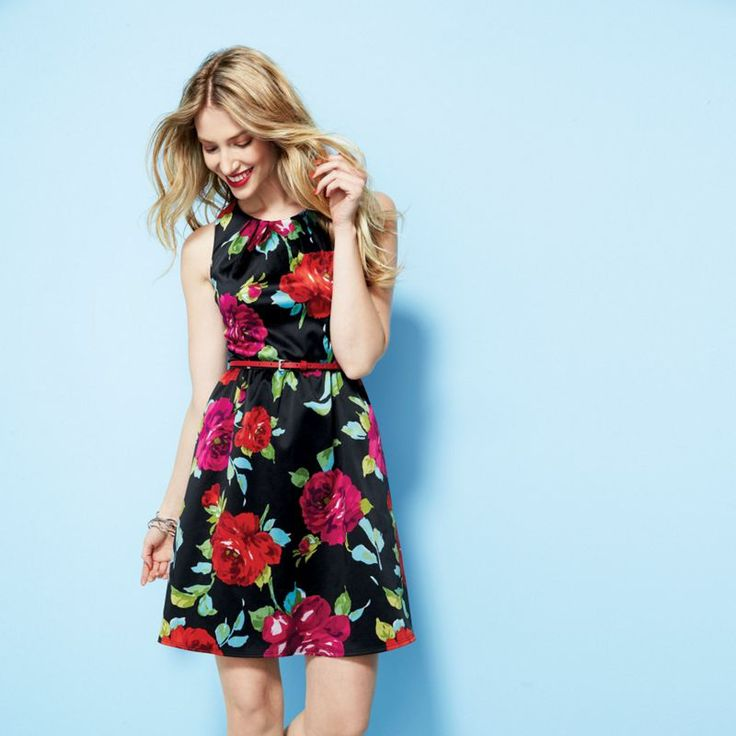 Hmm, could I go that bold? JESSICA®/MD Floral Print Dress - Sears | Sears Canada