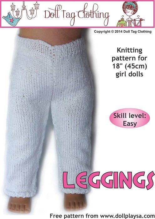 Free knitting pattern for American Girls