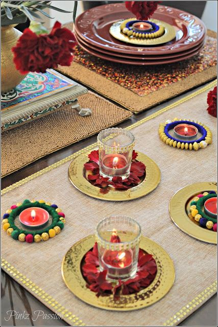 Diwali Décor, Diwali decorations, Diwali home décor, Diwali table decorations, Diwali table settings, Diwali Tablescape, Indian Festival Diwali, Indian Festivals décor, Indian decor