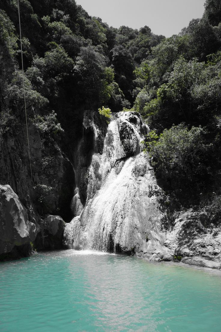 Waterfall in the Polilimnio gorge #Kalamata #Greece