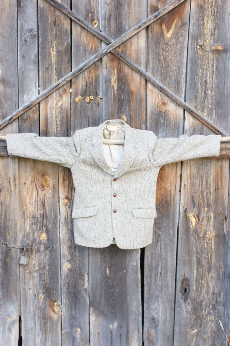 wełniana ciepła męska marynarka/vintage wool jacket od Kingdom of Vintage
