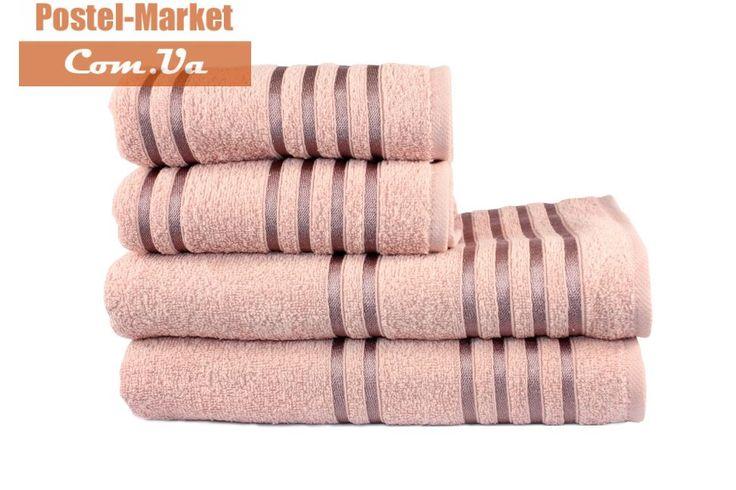 Купить Махровое полотенце LINE темно-розовое Izzihome в интернет магазине Постель Маркет ( Киев, Украина )