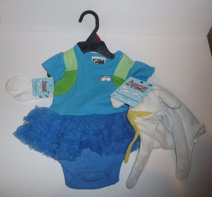 0-6 Months Fionna Adventure Time Costume Set Skirted Creeper Hat Socks Cake Cat #Spirit #EverydayHolidayHalloweenCuteDressUpPlay